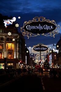 Christmas lights on Oxford Street, London